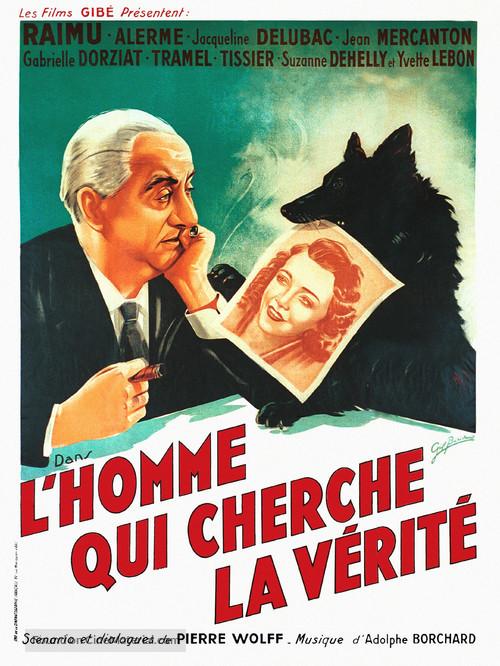L'homme qui cherche la vérité - French Movie Poster