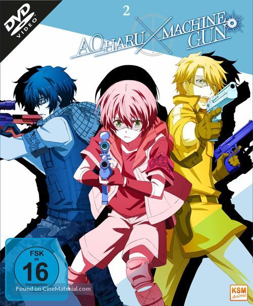 """Aoharu X Machinegun"" - German DVD movie cover"