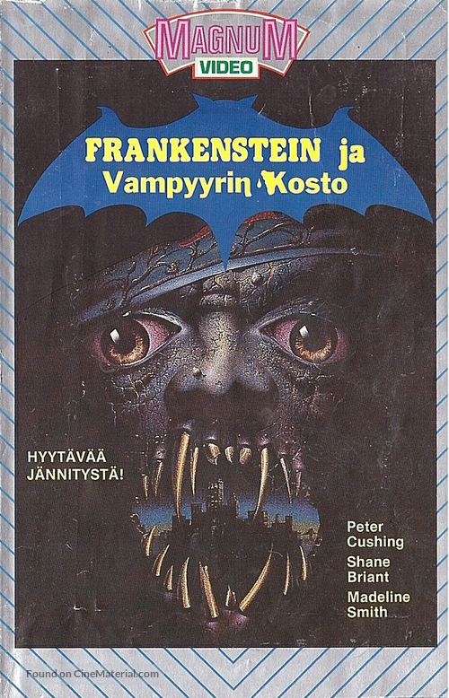 Frankenstein and the Monster from Hell - Finnish VHS movie cover