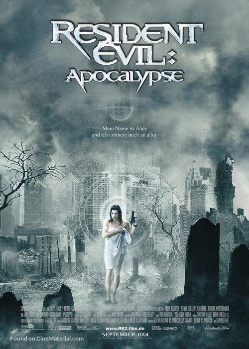 Resident Evil: Apocalypse - German Movie Poster