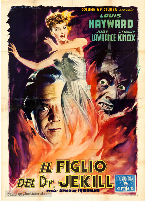 The Son of Dr. Jekyll - Italian Movie Poster