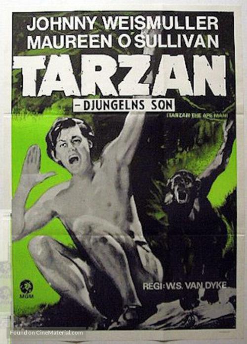 Tarzan the Ape Man - Swedish Movie Poster