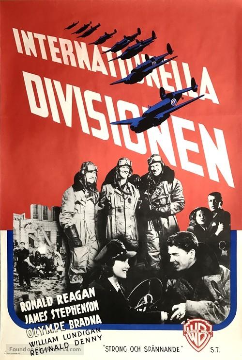 International Squadron - Swedish Movie Poster