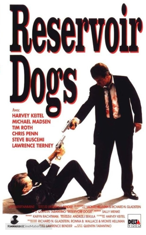 Reservoir Dogs - French VHS movie cover