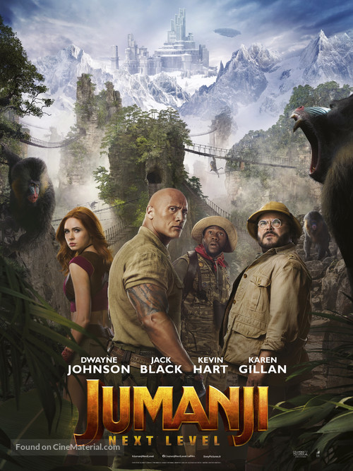Jumanji: The Next Level - French Movie Poster