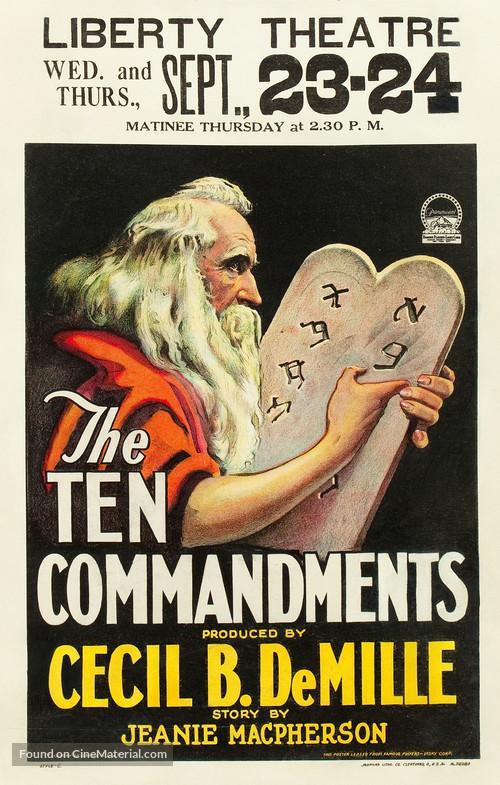 The Ten Commandments - Movie Poster