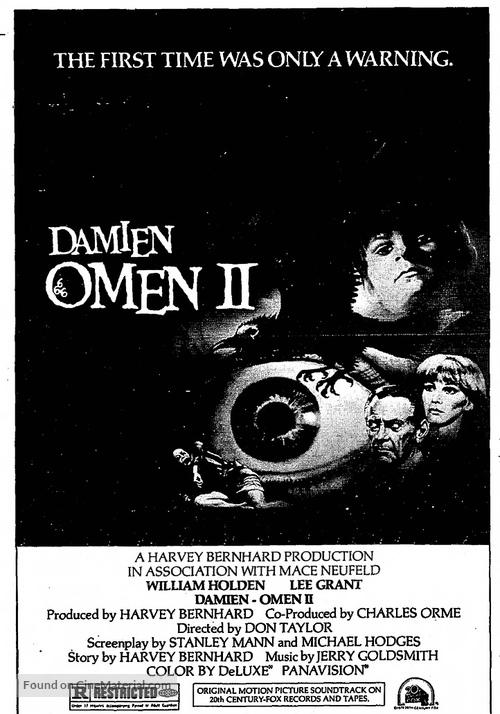 Damien: Omen II - Movie Poster