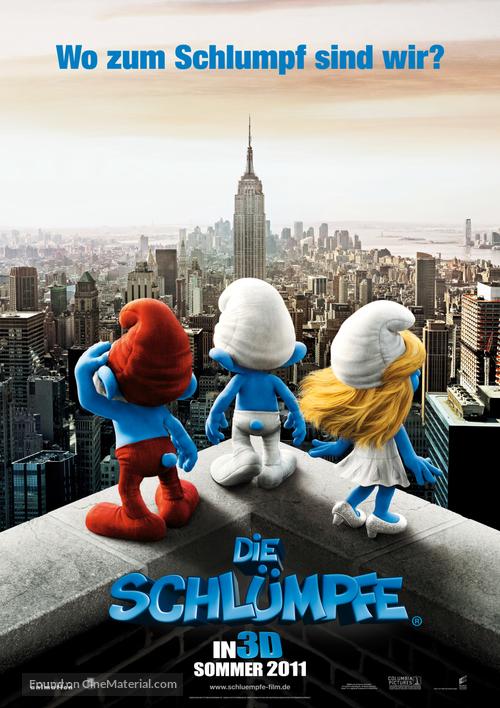 The Smurfs - German Movie Poster