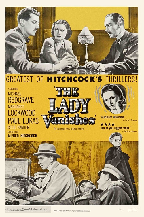 The Lady Vanishes - Re-release movie poster