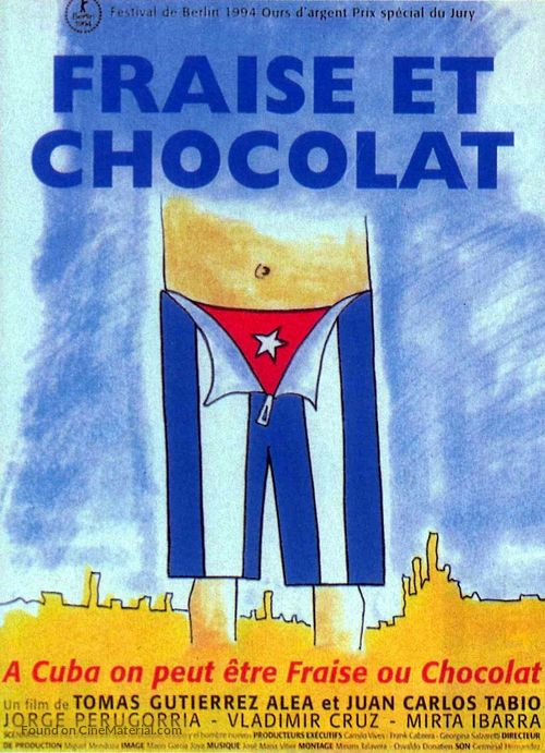 Fresa y chocolate - French Movie Poster