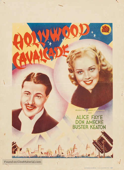 Hollywood Cavalcade - Belgian Movie Poster
