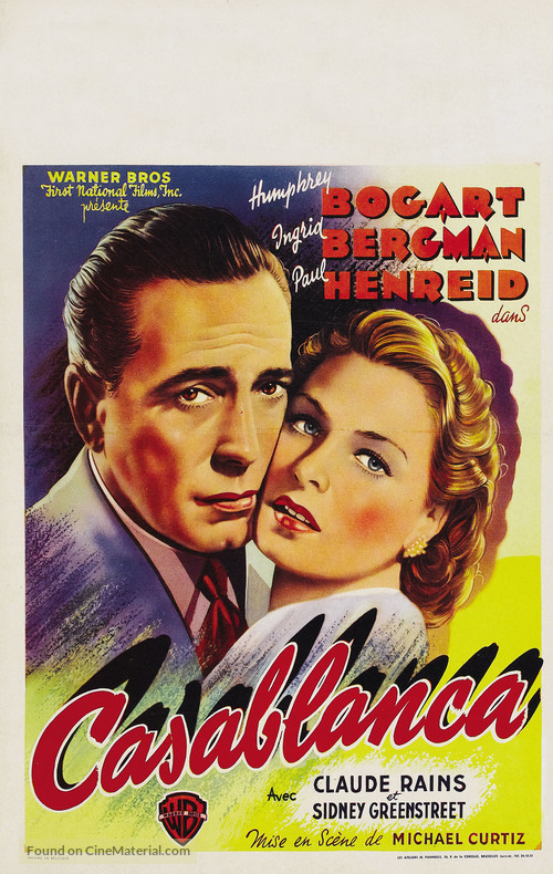 Casablanca - Belgian Movie Poster