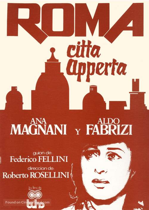Roma, città aperta - Spanish Movie Poster