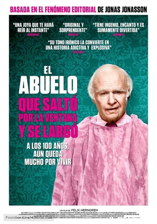 Hundraåringen som klev ut genom fönstret och försvann - Spanish Movie Poster