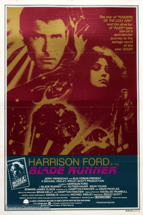 Blade Runner - Australian Movie Poster