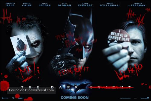 The Dark Knight - Never printed movie poster