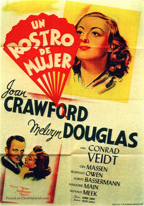 A Woman's Face - Spanish Movie Poster