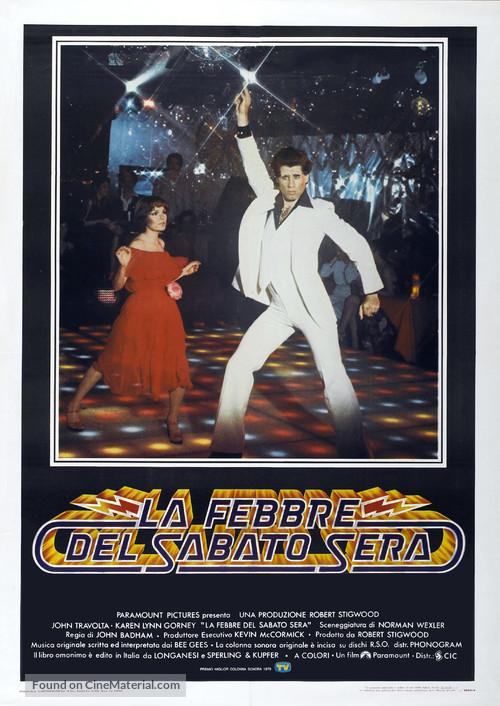 Saturday Night Fever - Italian Movie Poster