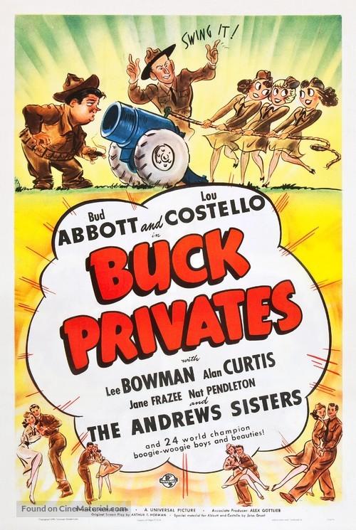 Buck Privates - Movie Poster