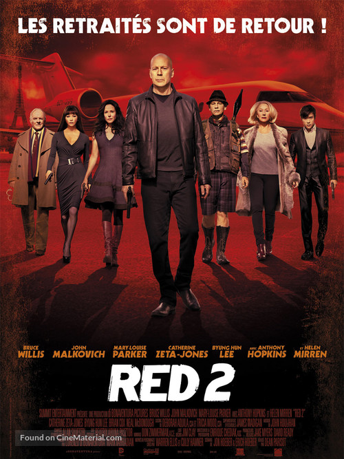 RED 2 - French Movie Poster