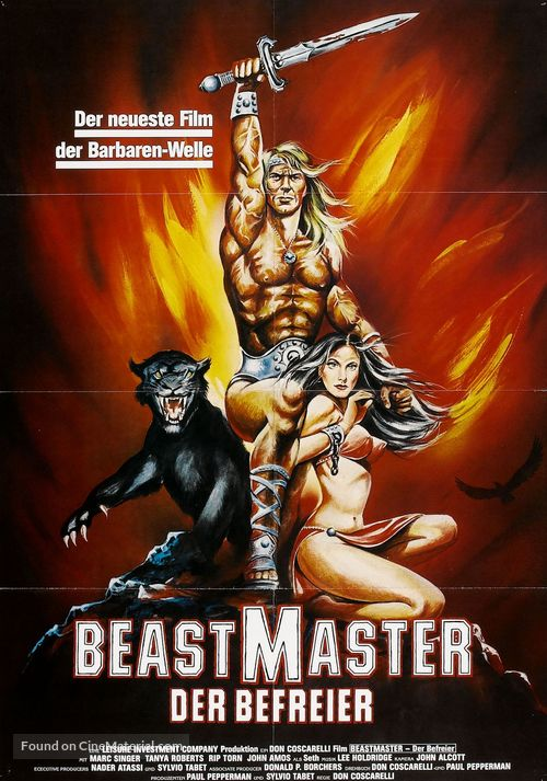 The Beastmaster - German Movie Poster