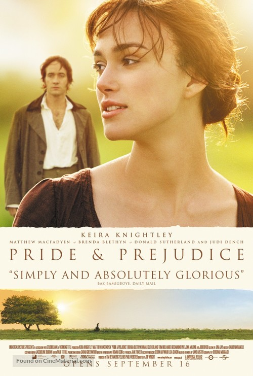 Pride & Prejudice - Theatrical movie poster