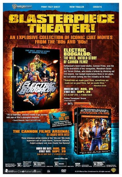 Electric Boogaloo: The Wild, Untold Story of Cannon Films - Video release movie poster