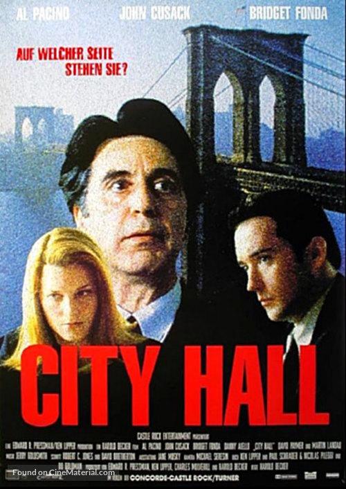 City Hall - German Movie Poster