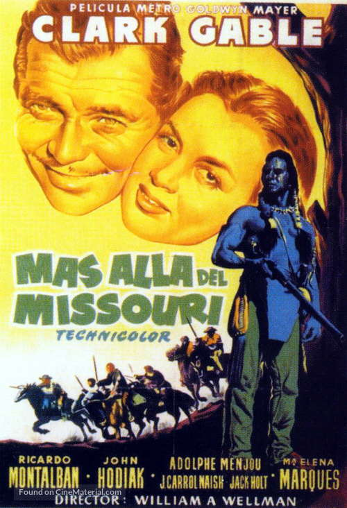 Across the Wide Missouri - Spanish Movie Poster