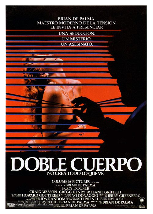 Body Double - Spanish Movie Poster