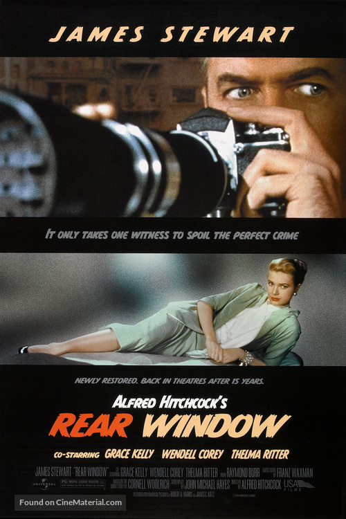 Rear Window - Re-release movie poster