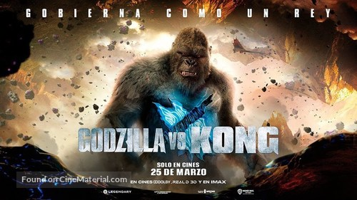 Godzilla vs. Kong - Spanish Movie Poster
