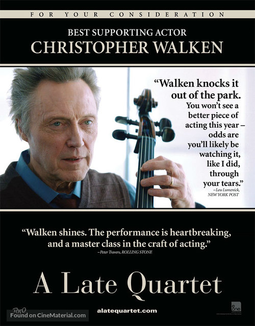 A Late Quartet - For your consideration movie poster