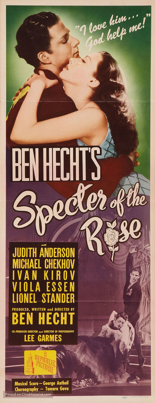 Specter of the Rose - Movie Poster