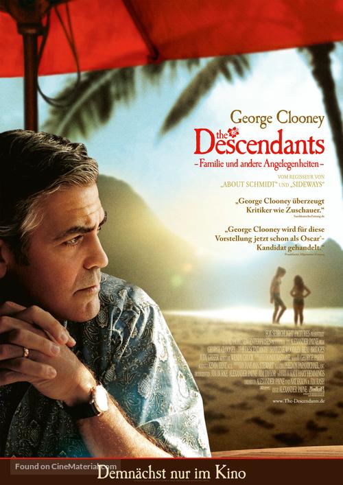 The Descendants - German Movie Poster