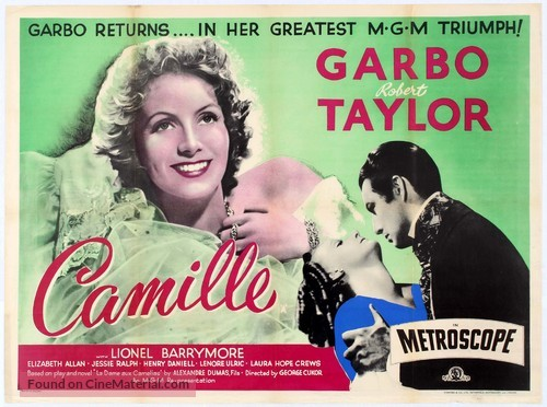 Camille (1936) British movie poster