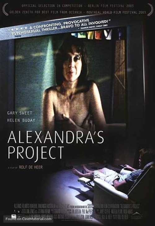 alexandras project Watch alexandra's project (2003) online, a regular suburban family man comes home from work on his birthday to find a deserted house and a.