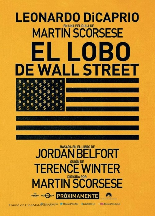 The Wolf of Wall Street - Mexican Movie Poster
