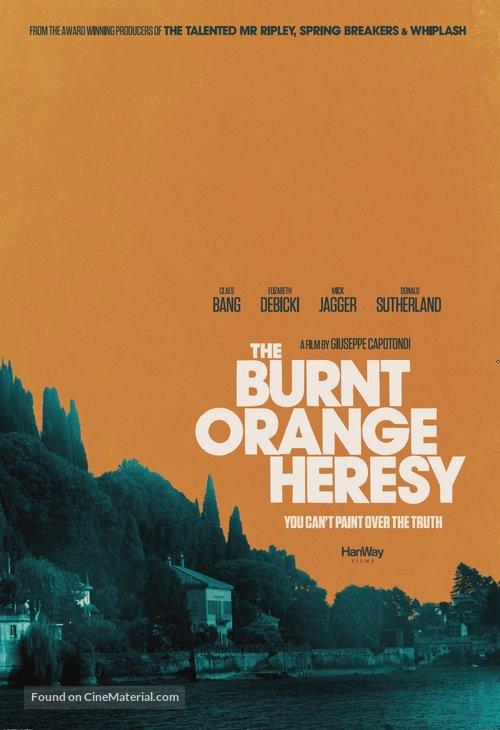 The Burnt Orange Heresy - British Movie Poster