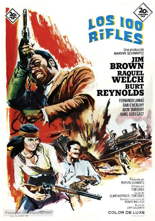 100 Rifles - Spanish Movie Poster