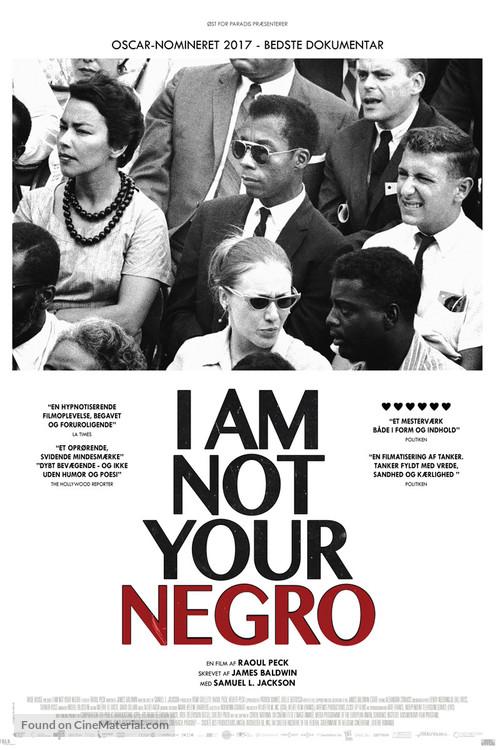 I Am Not Your Negro - Danish Movie Poster