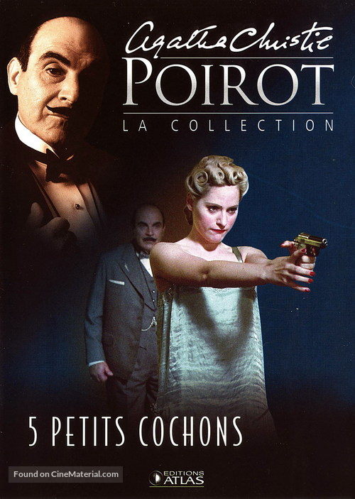 """""""Poirot"""" Five Little Pigs - French poster"""