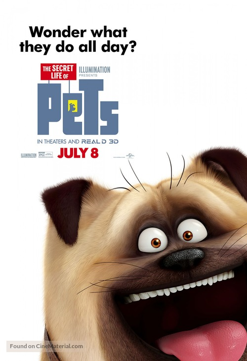 The Secret Life Of Pets 2016 Movie Poster