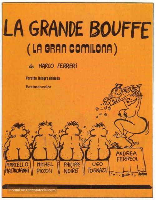La grande bouffe - Spanish Movie Cover
