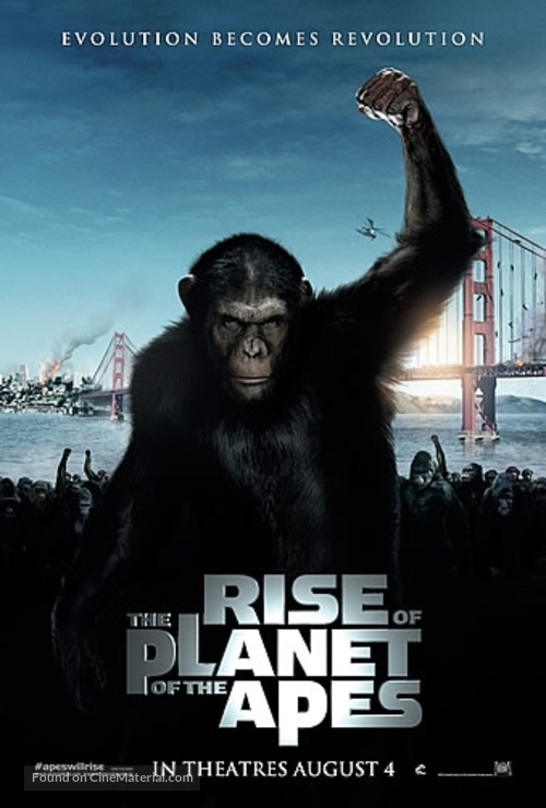Rise of the Planet of the Apes - Singaporean Movie Poster