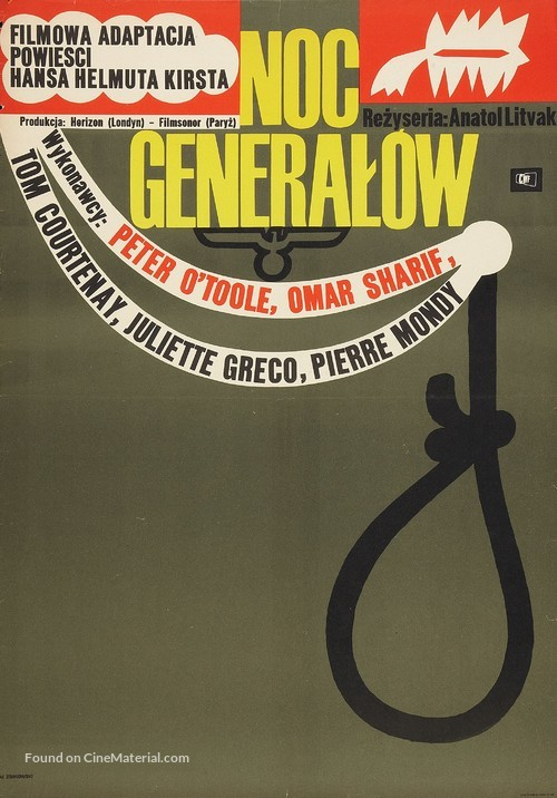 The Night of the Generals - Polish Movie Poster