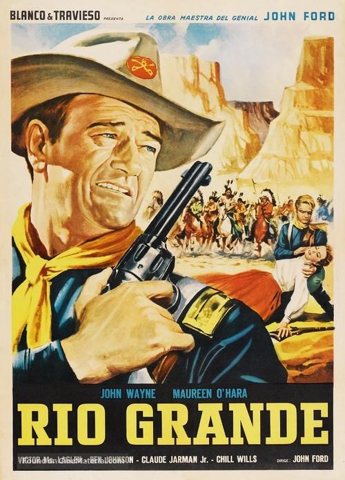 Rio Grande - Mexican Movie Poster