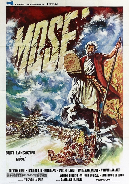 """""""Moses the Lawgiver"""" - Italian Movie Poster"""