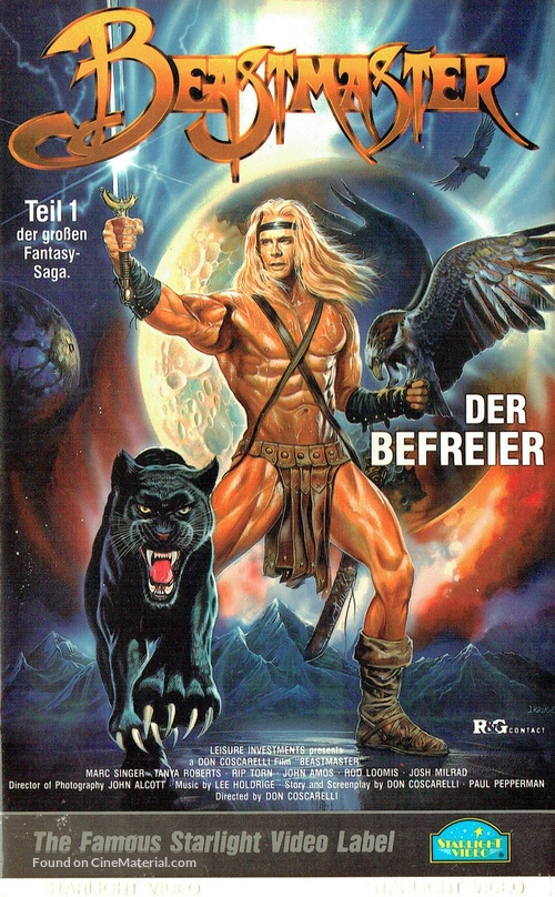 The Beastmaster - German VHS movie cover