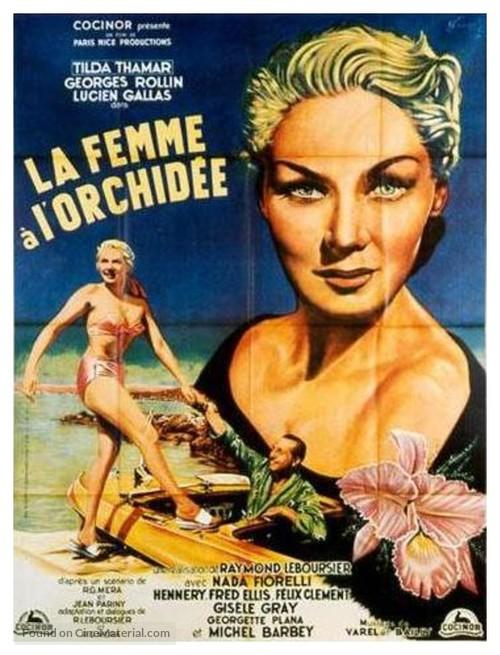 La femme à l'orchidée - French Movie Poster